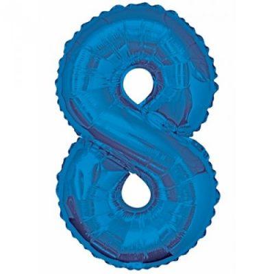 34 Numeral Helium Balloon Blue 8