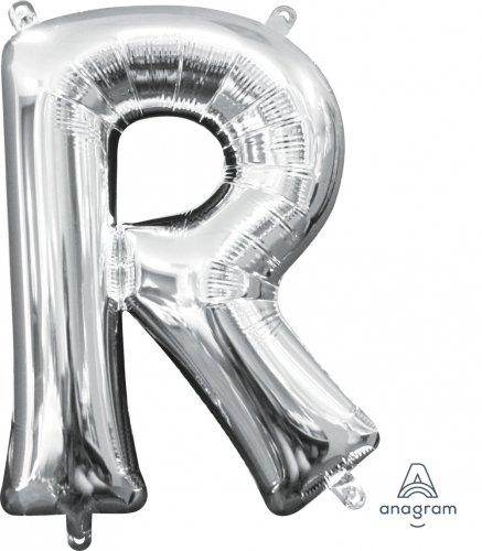 letters with lights 16in silver air filled balloon letter r experts 15438